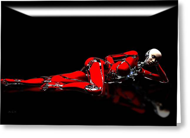 Red Reflection Greeting Card by Bob Orsillo