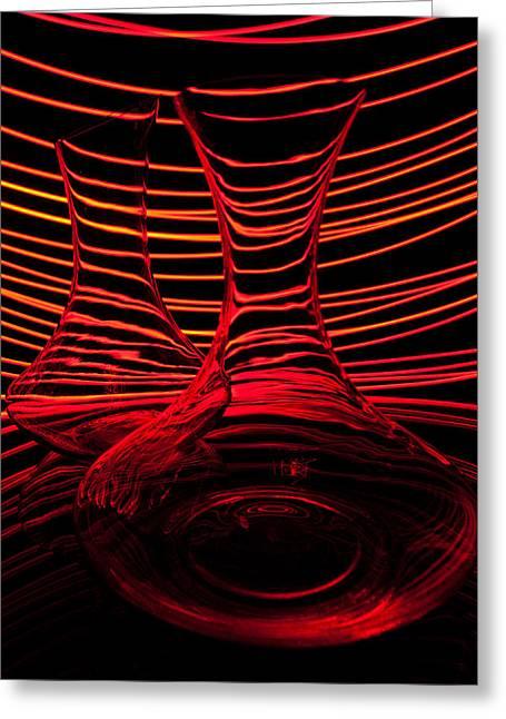 Red Rhythm Iv Greeting Card by Davorin Mance