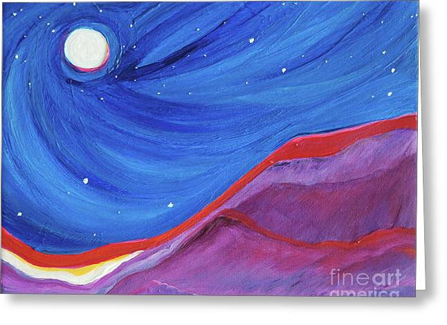 Red Ridge By Jrr Greeting Card by First Star Art