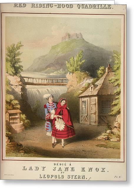 Red Riding-hood Quadrille Greeting Card by British Library