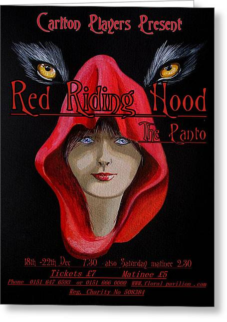 Red Riding Hood Greeting Card by Steve Jones