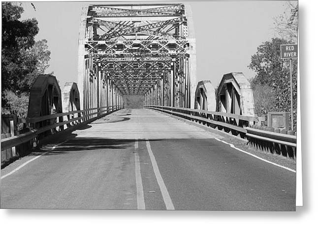 Red River Bridge Greeting Card by Kim Allen