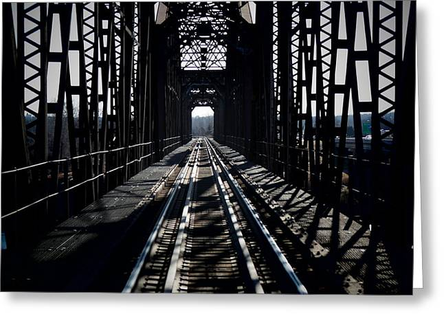Greeting Card featuring the photograph Red River Rail Road Crossing by Diana Mary Sharpton