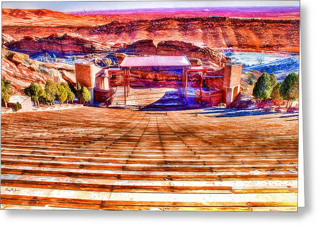 Colorado - Famous - Red Rock Amphitheater Greeting Card