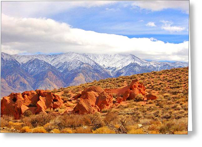 Red Rock And Desert Greeting Card