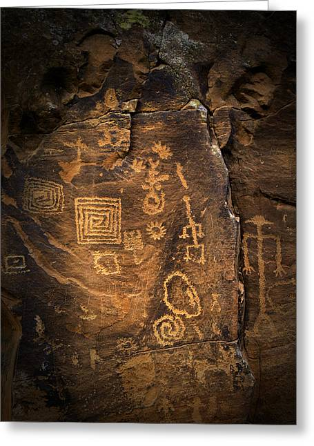 Red Rock Art Greeting Card