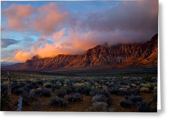 Red Rock Canyon National Conservation Area Las Vegas Greeting Card