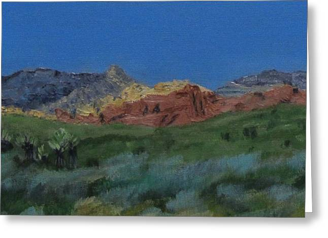Red Rock Canyon Panorama Greeting Card