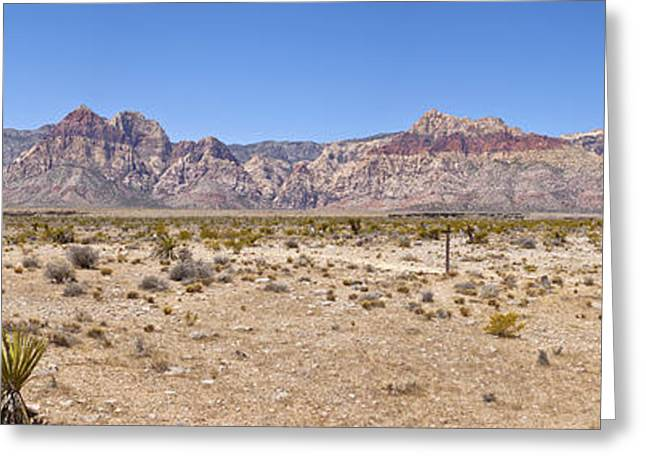 Red Rock Canyon Panorama Nevada. Greeting Card by Gino Rigucci