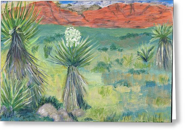 Red Rock Canyon With Yucca Greeting Card