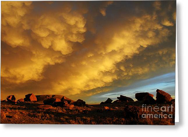 Greeting Card featuring the photograph Red Rock Coulee Sunset by Vivian Christopher