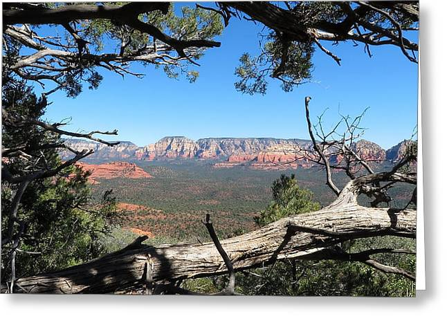 Red Rock Country From Doe Mountain Greeting Card