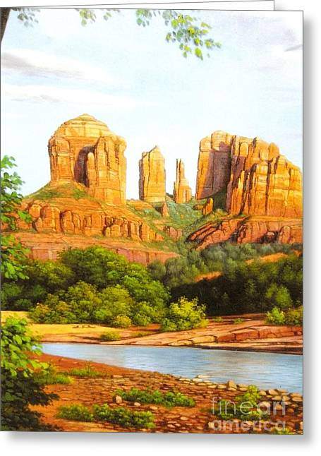 Red Rock Crossing In Sedona Greeting Card
