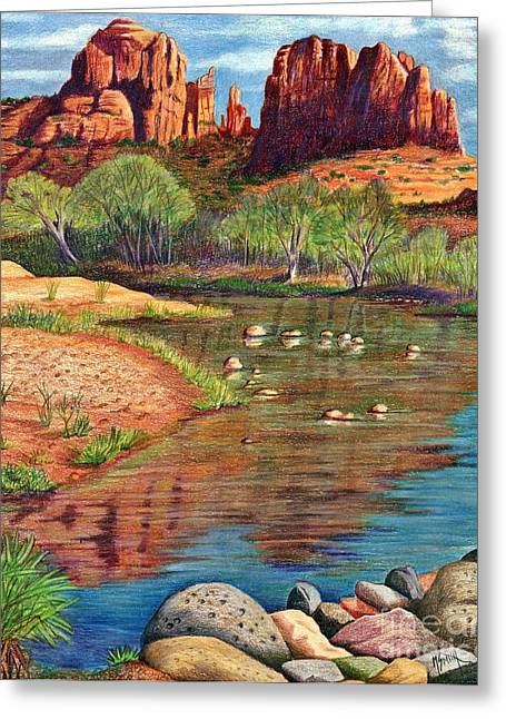 Red Rock Crossing-sedona Greeting Card