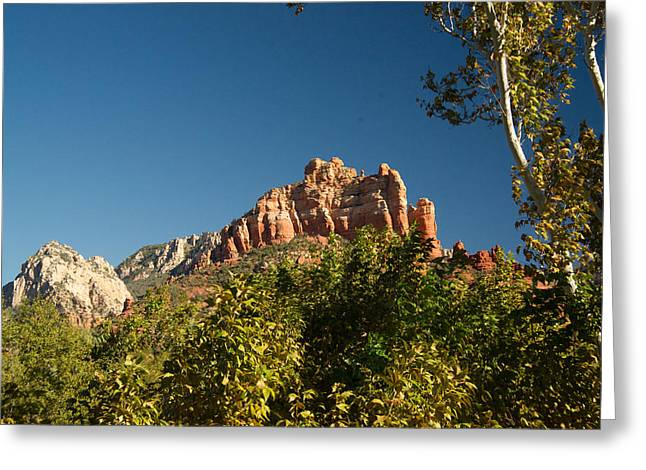 Red Rock Formations Oak Creek Canyon Sedona 2 Greeting Card