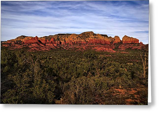 Greeting Card featuring the photograph Red Rock Golden Hour 26 by Mark Myhaver