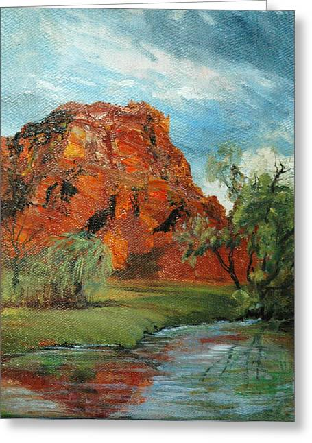 Red Rock Greeting Card by Jolyn Kuhn