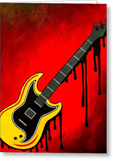 Red Rock N' Roll Greeting Card by Allison Liffman