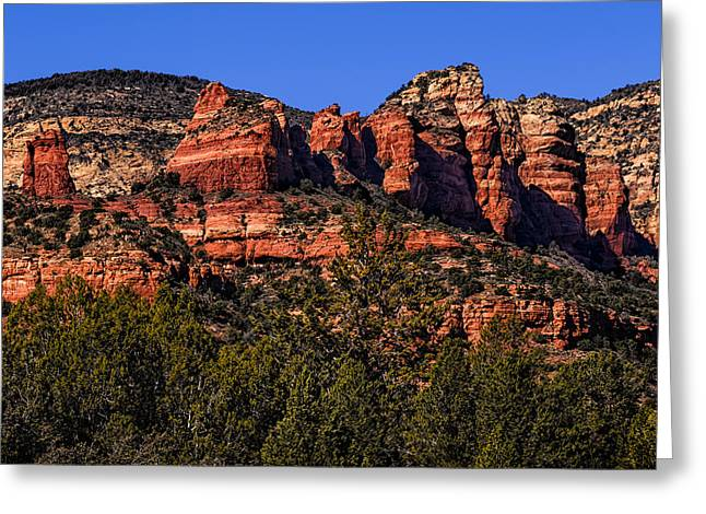 Greeting Card featuring the photograph Red Rock Sentinels by Mark Myhaver