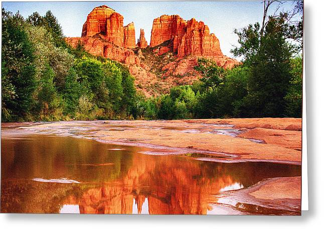 Red Rock State Park - Cathedral Rock Greeting Card