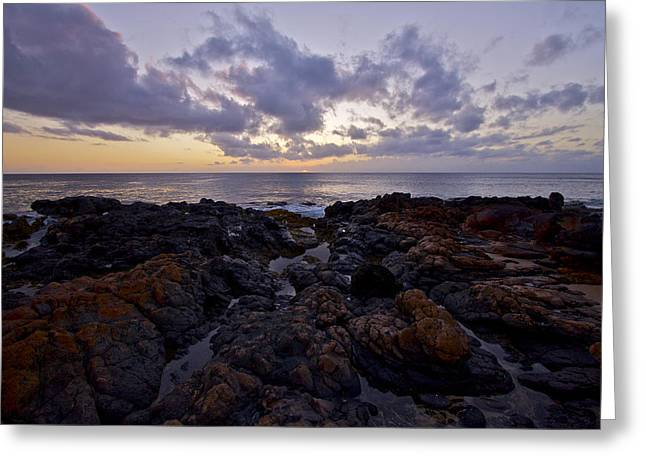 Red Rock Sunset Greeting Card by Brian Governale