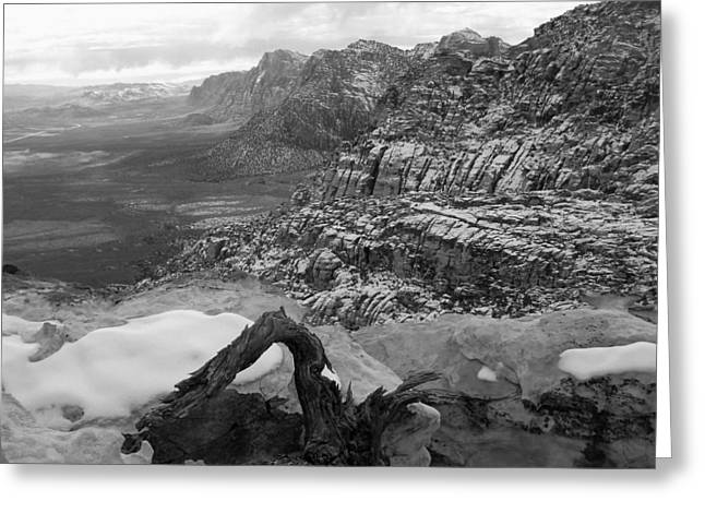 Greeting Card featuring the photograph Red Rock Winter by Alan Socolik