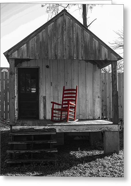 Red Rocker   Greeting Card by Steven  Taylor
