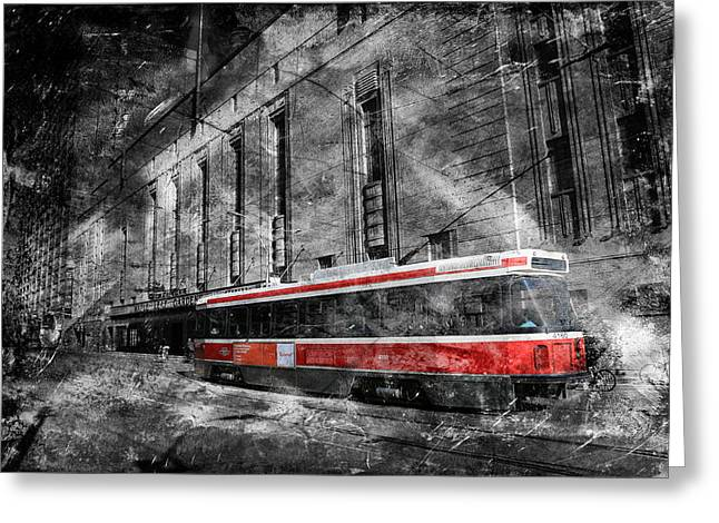 Red Rocket 23d Greeting Card by Andrew Fare