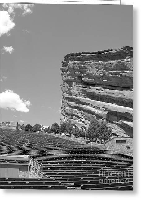 Red Rocks Greeting Card by Barbara Bardzik