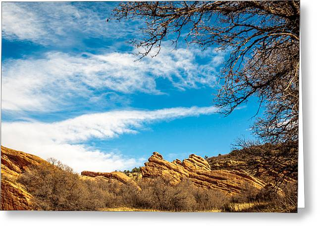Greeting Card featuring the photograph Red Rocks View 001 by Todd Soderstrom