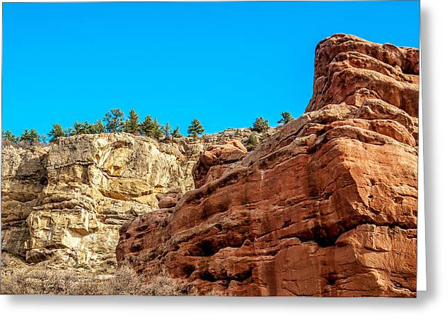 Greeting Card featuring the photograph Red Rocks View 002 by Todd Soderstrom