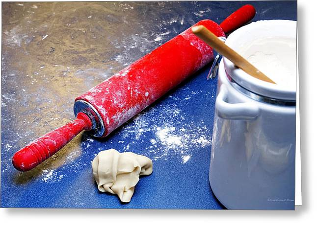 Red Rolling Pin Greeting Card