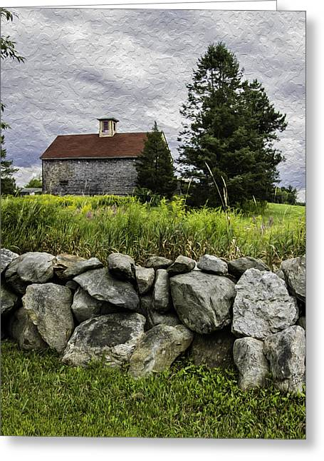 Red Roof Barn - Haverhill Ma Greeting Card by Betty Denise