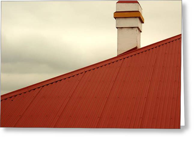 Red Roof Greeting Card by Kaleidoscopik Photography