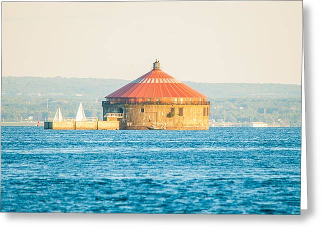 Red Roofed Pump House Greeting Card