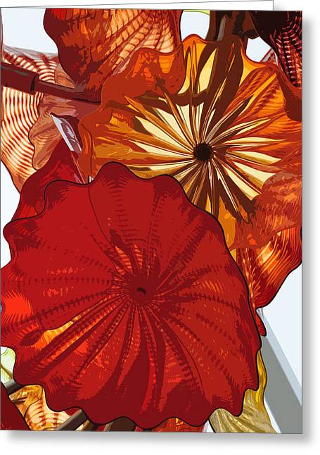 Greeting Card featuring the digital art Red Rose by Kirt Tisdale