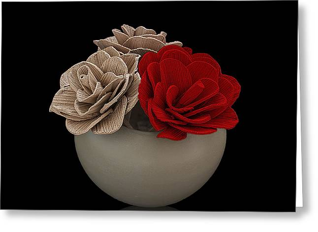 Red Rose Shimmer Greeting Card by Rob Guiver