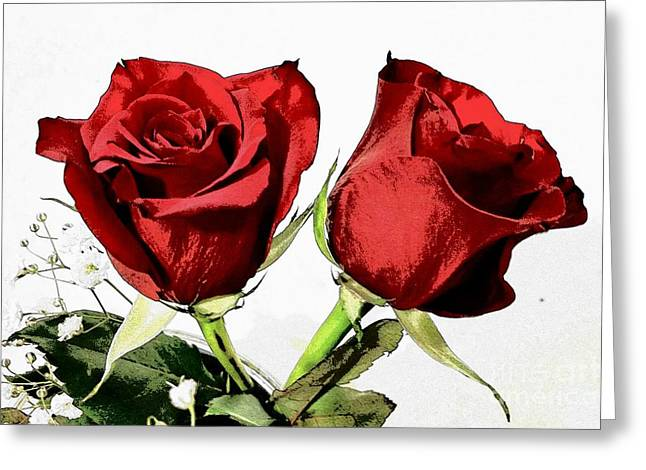 Red Roses 3 Greeting Card