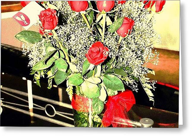 Red Roses Greeting Card by Dietmar Scherf
