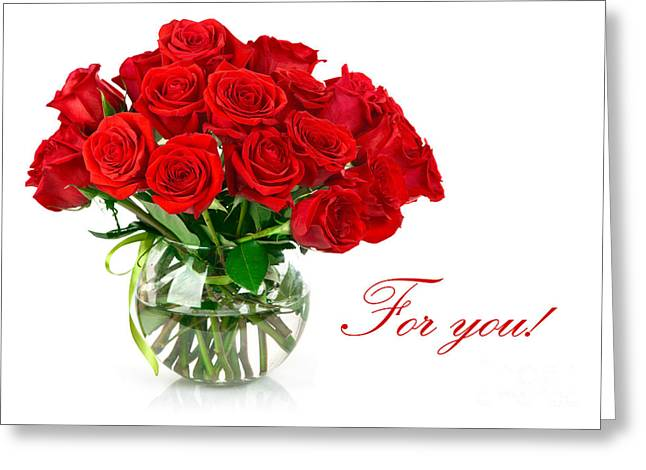 Red Roses For You Greeting Card by Boon Mee