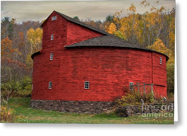 Red Round Barn Greeting Card