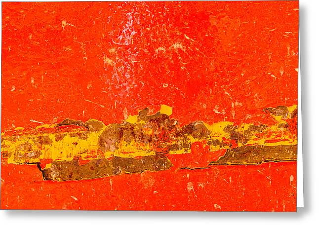 Red Rusty Backgound Greeting Card