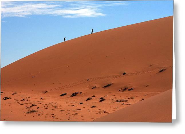 Red Sand Dunes Greeting Card by Aidan Moran