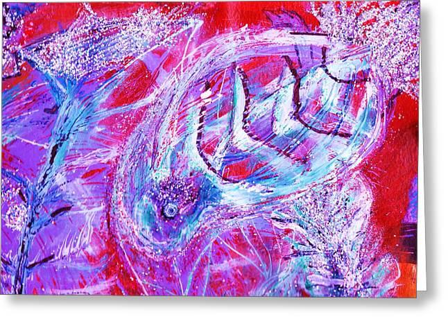 Red Sea Mystery Fish Greeting Card by Anne-Elizabeth Whiteway
