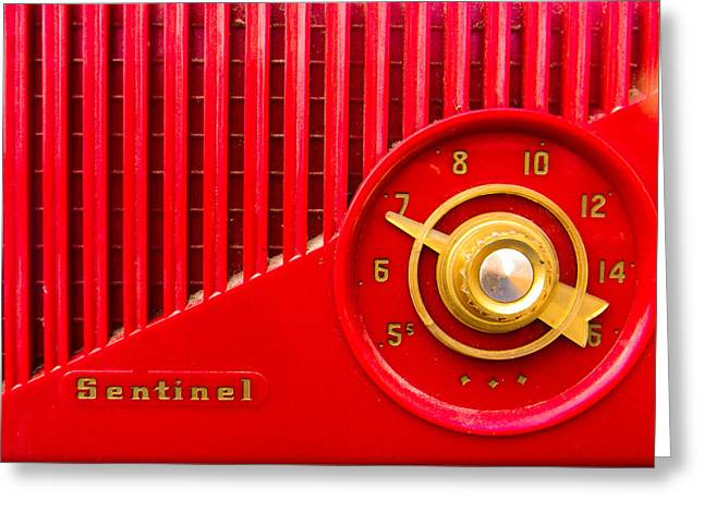 Red Sentinel Greeting Card