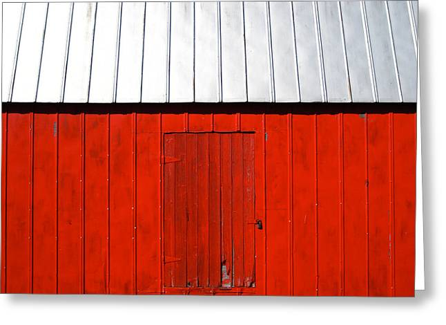 Red Shed Greeting Card by Sheryl Burns