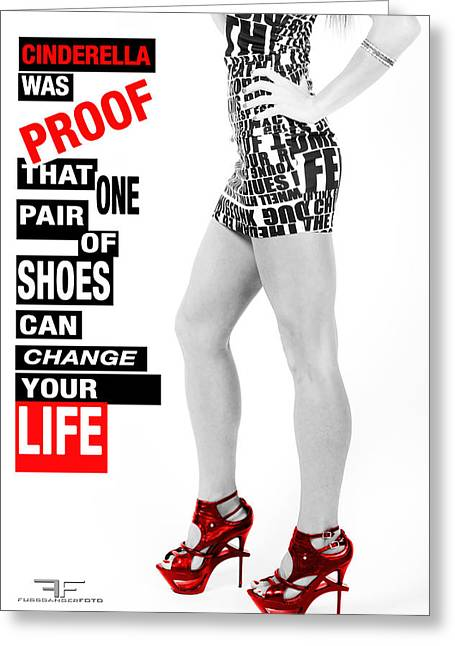 Red Shoes Greeting Card by Fussgangerfoto