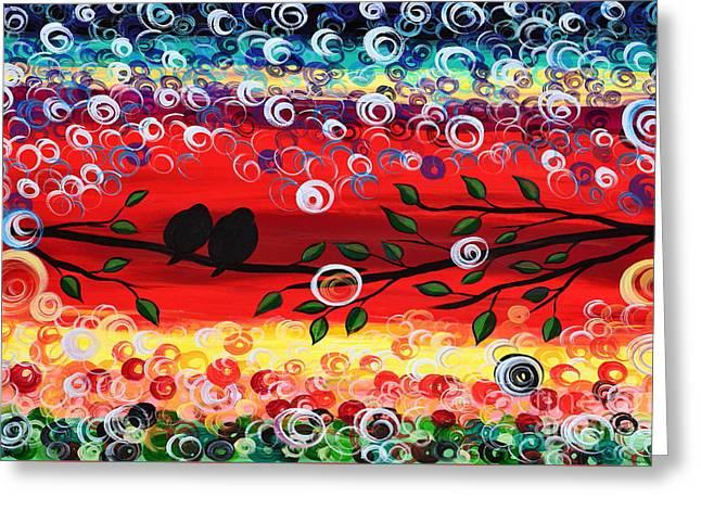Red Skies Greeting Card