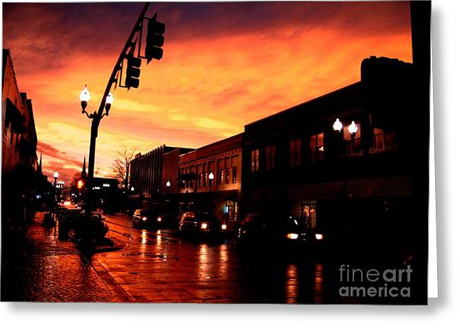 Red Sky At Dusk Greeting Card by   Joe Beasley