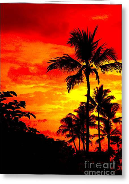 Red Sky At Night Greeting Card by David Lawson